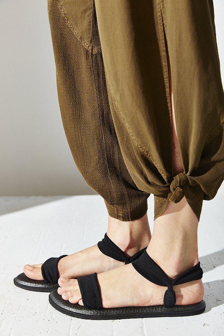 Lyst Sanuk Yoga Duet Sandal In Black