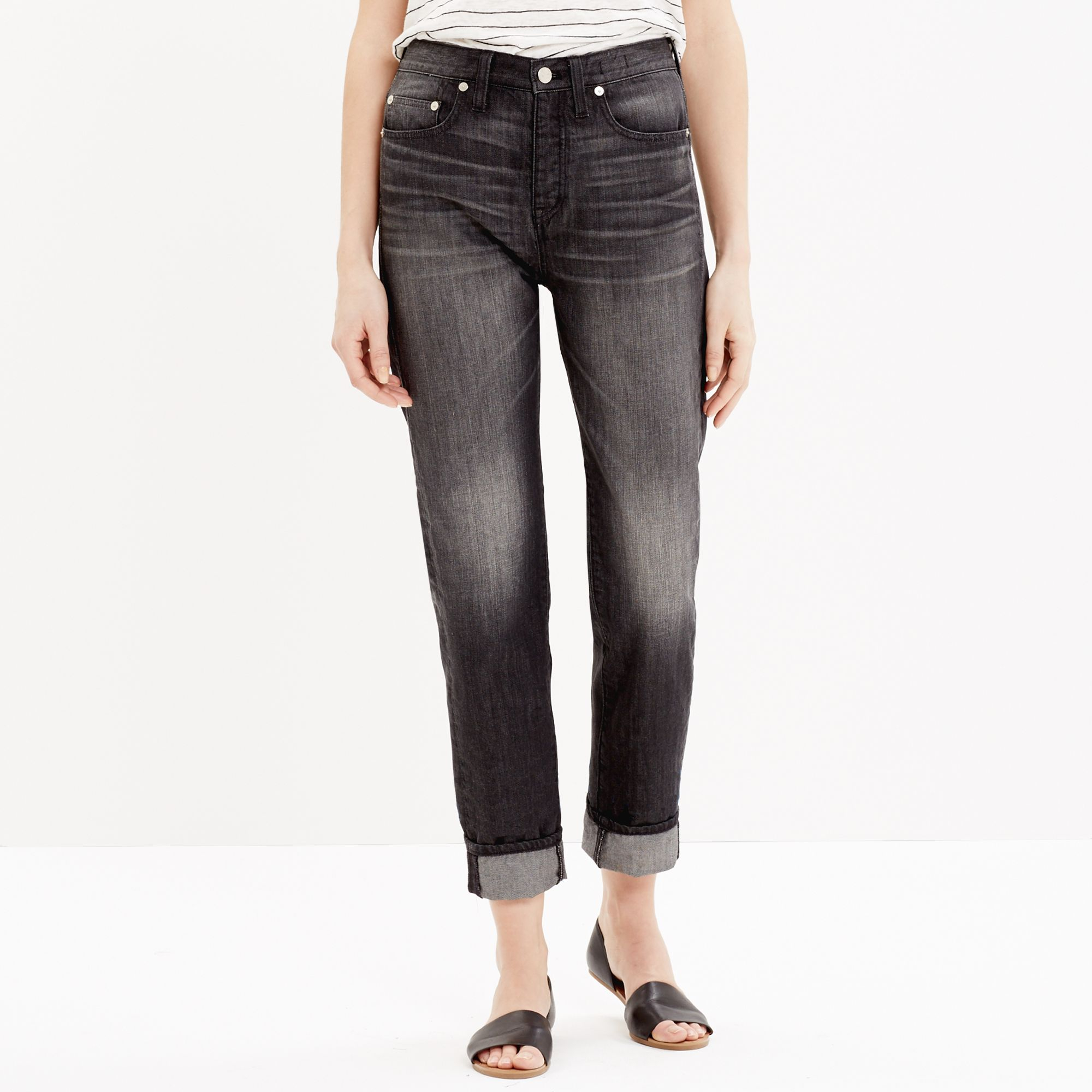 ccbec3277242 Lyst - Madewell The Perfect Summer Jean In Thornton Wash in Black