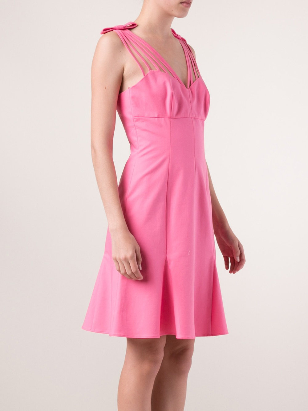 Lyst boutique moschino strappy bow dress in pink Inexpensive chic