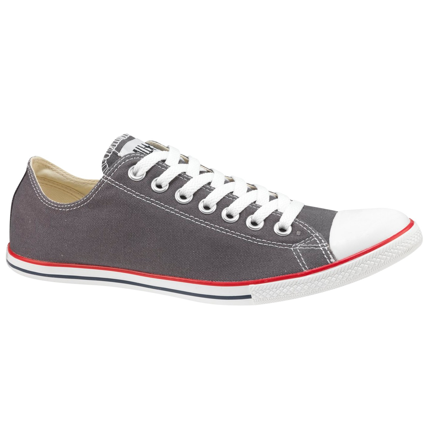 b35af53927da Converse All Star Slim Ox Chuck Taylor Trainers Charcoal in Gray for ...