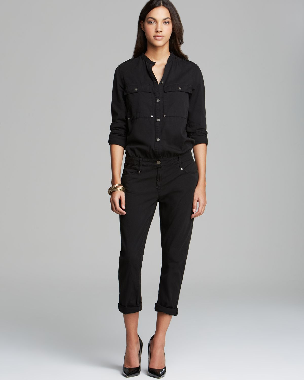 Swap in a sleek black jumpsuit for your go-to LBD and accessorize with glam gold accessories, throw on an easy silky romper with wedges or go sexy-edgy in a strapless one-piece that hugs every curve. With tailored blazers and pumps, jumpsuits can even work for the office.