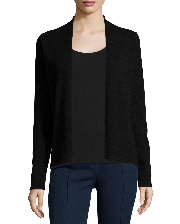 Elie tahari Stori Cashmere Open-front Sweater in Black | Lyst