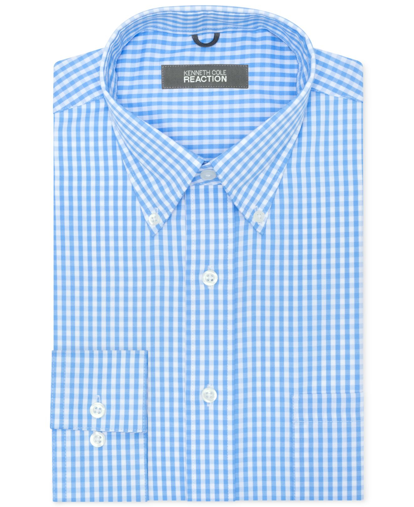 Lyst Kenneth Cole Reaction Non Iron Check Dress Shirt In Blue For Men