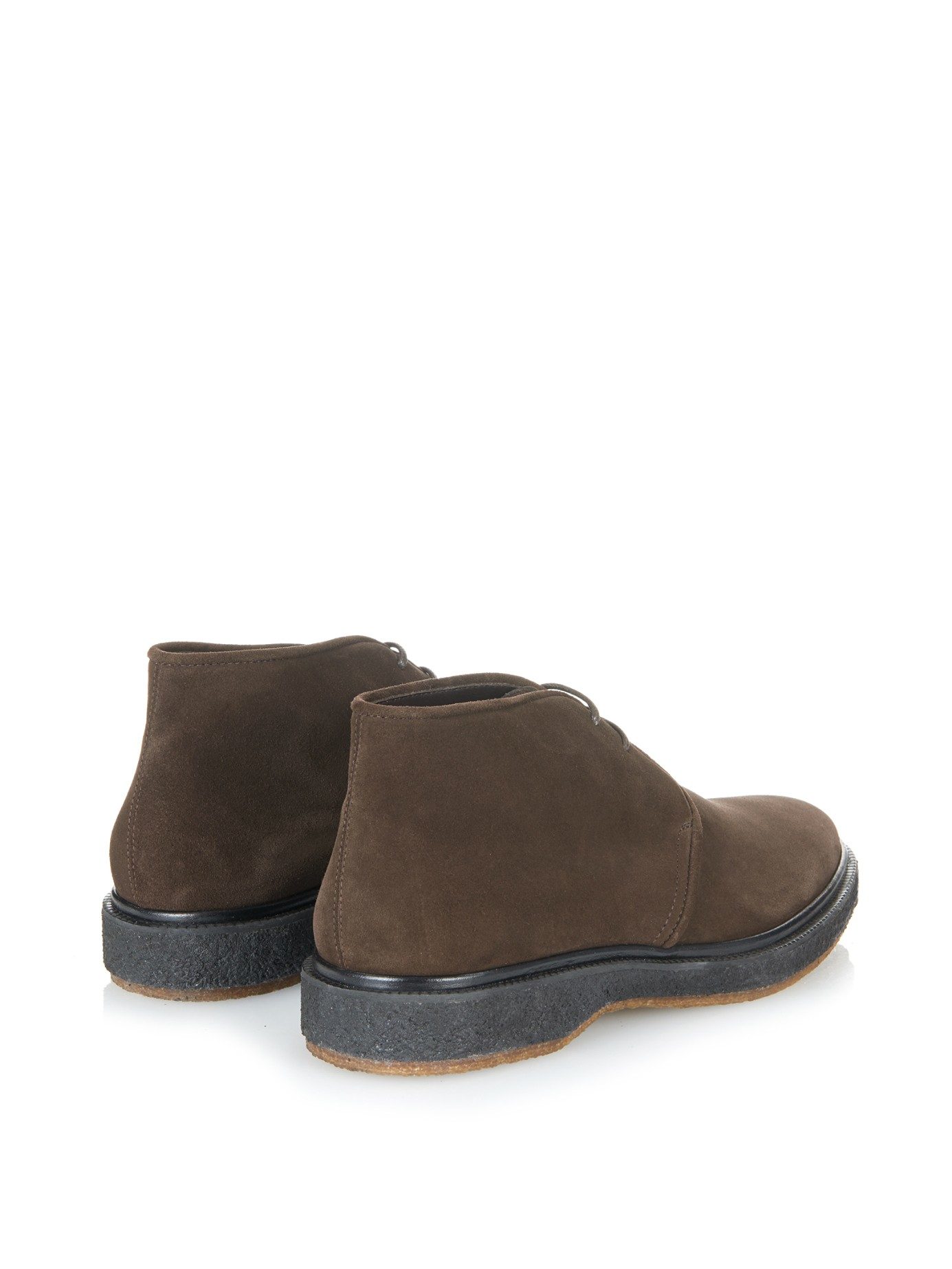 henderson suede derby desert boots in brown for lyst