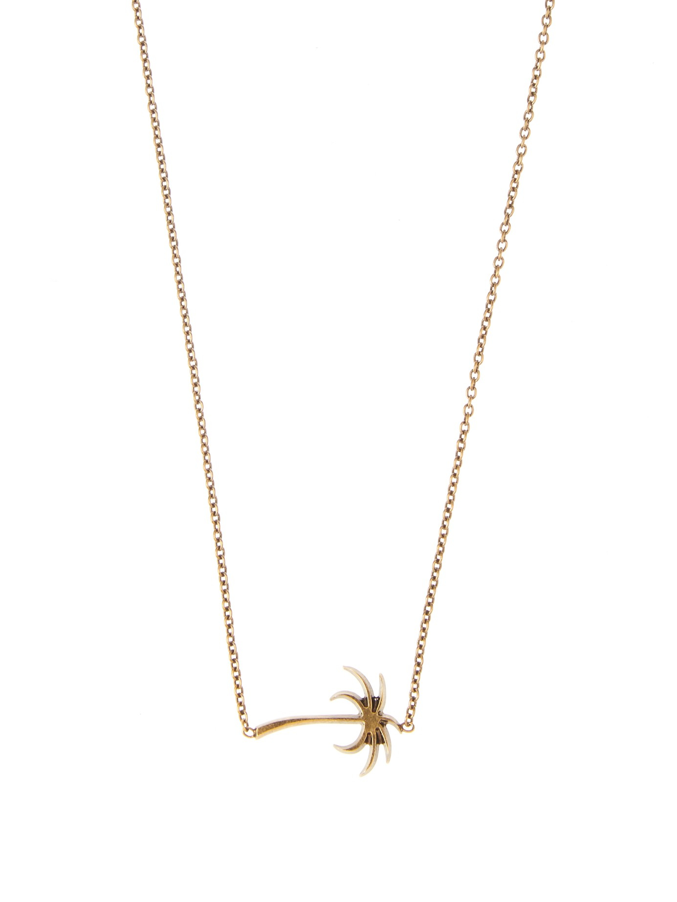 Tomas Maier Palm Tree Pendant Necklace In Metallic For Men