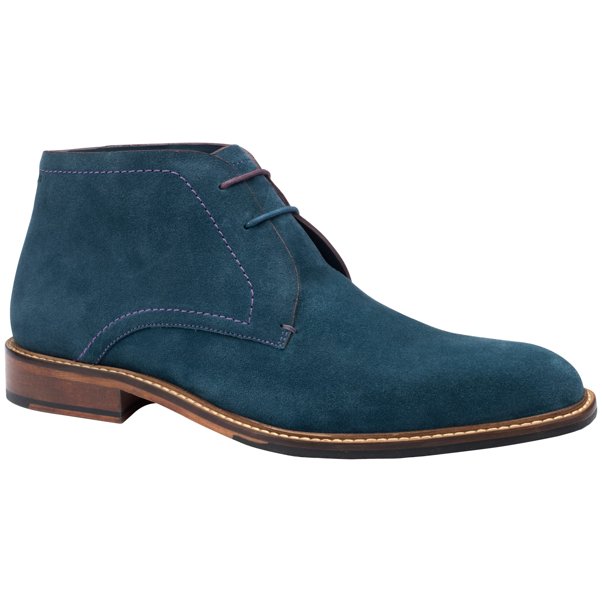 0e5af9074a69 Ted Baker Linnus Chukka Boots in Blue for Men - Lyst