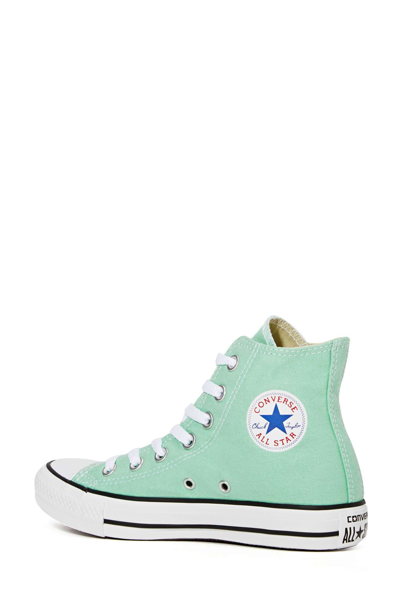 High Converse Nasty Gal Sneaker Top Lyst Star Green In Mint All RwXEFASq