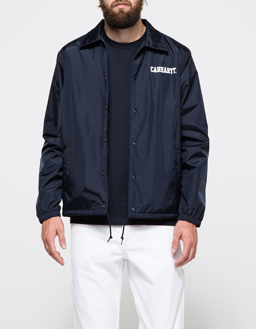 Lyst carhartt wip college coach jacket in blue for men for Coach jacket