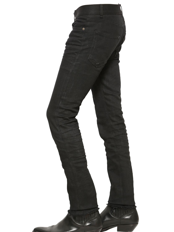 3f02e83b3ad88 Lyst - Saint Laurent 15.5Cm Skinny Stretch Cotton Denim Jeans in ...