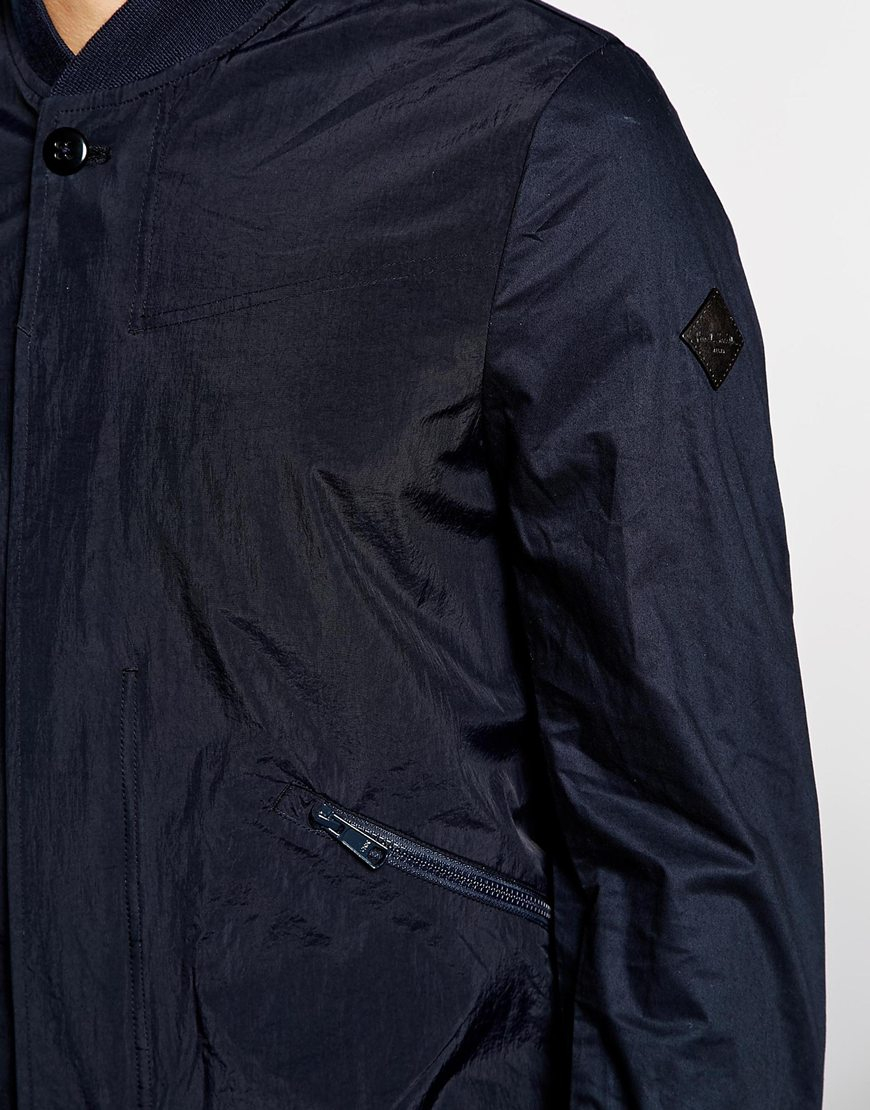 Paul smith Paul Smith Bomber Jacket In Waterproof Fabric in Blue ...
