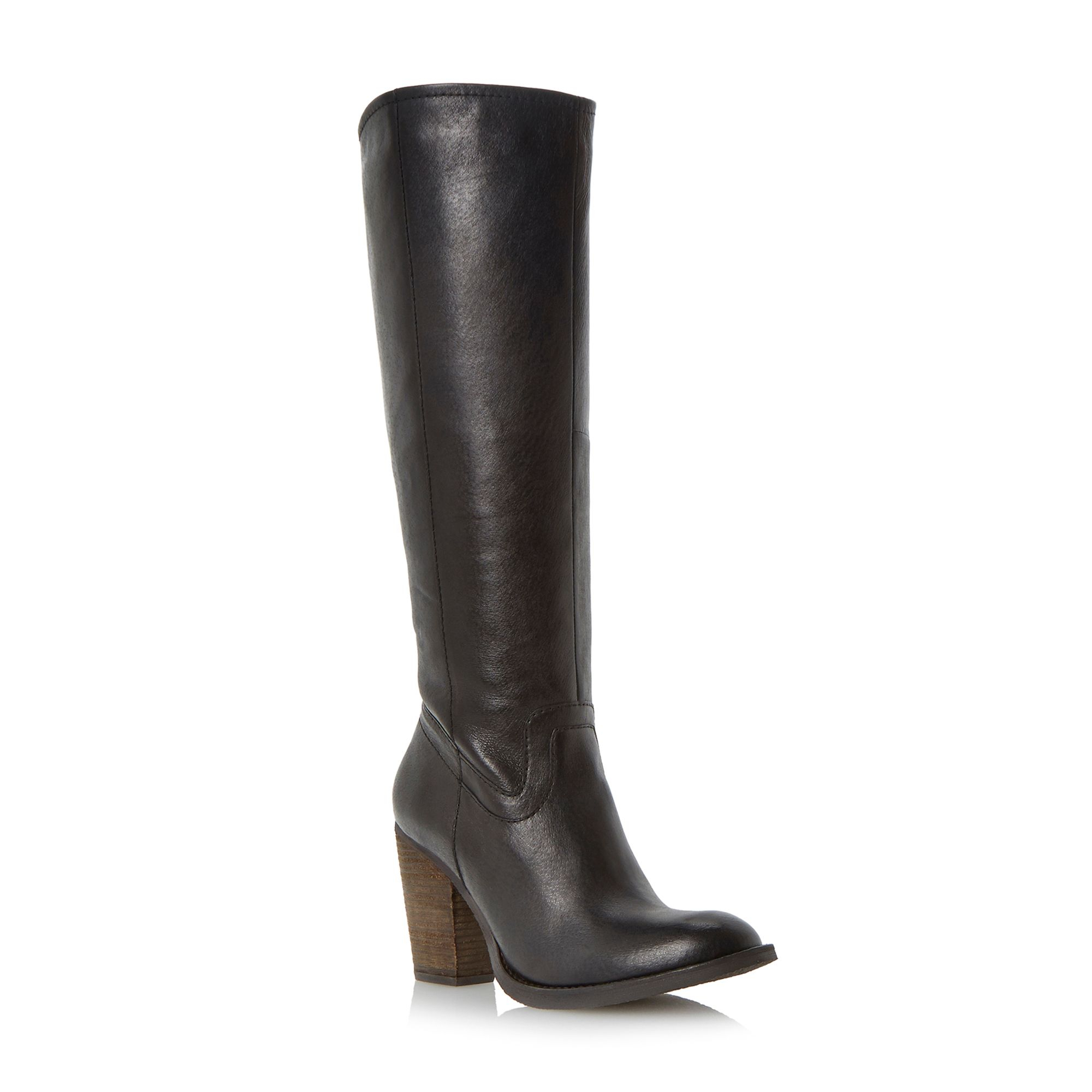 steve madden knee high leather boot in black lyst