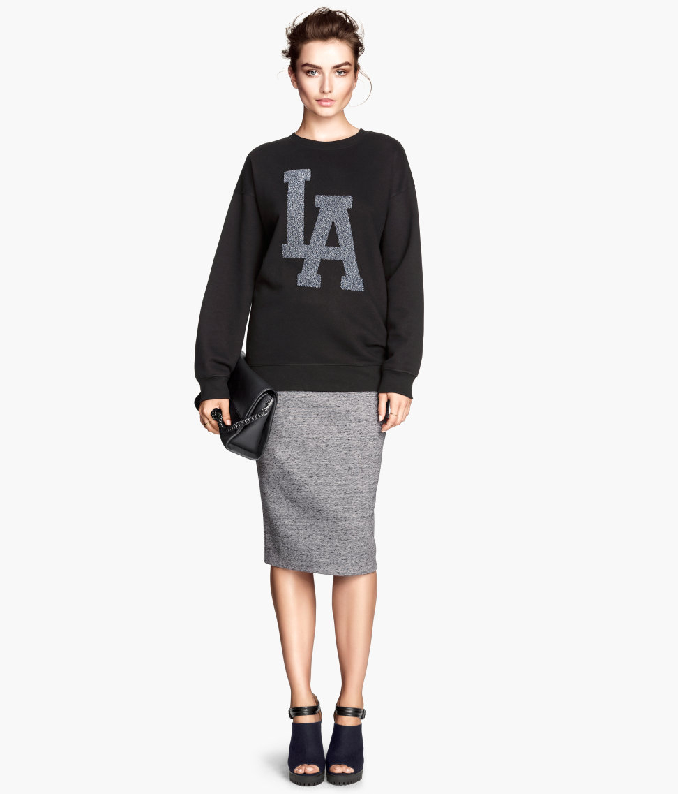 h m pencil skirt in gray lyst
