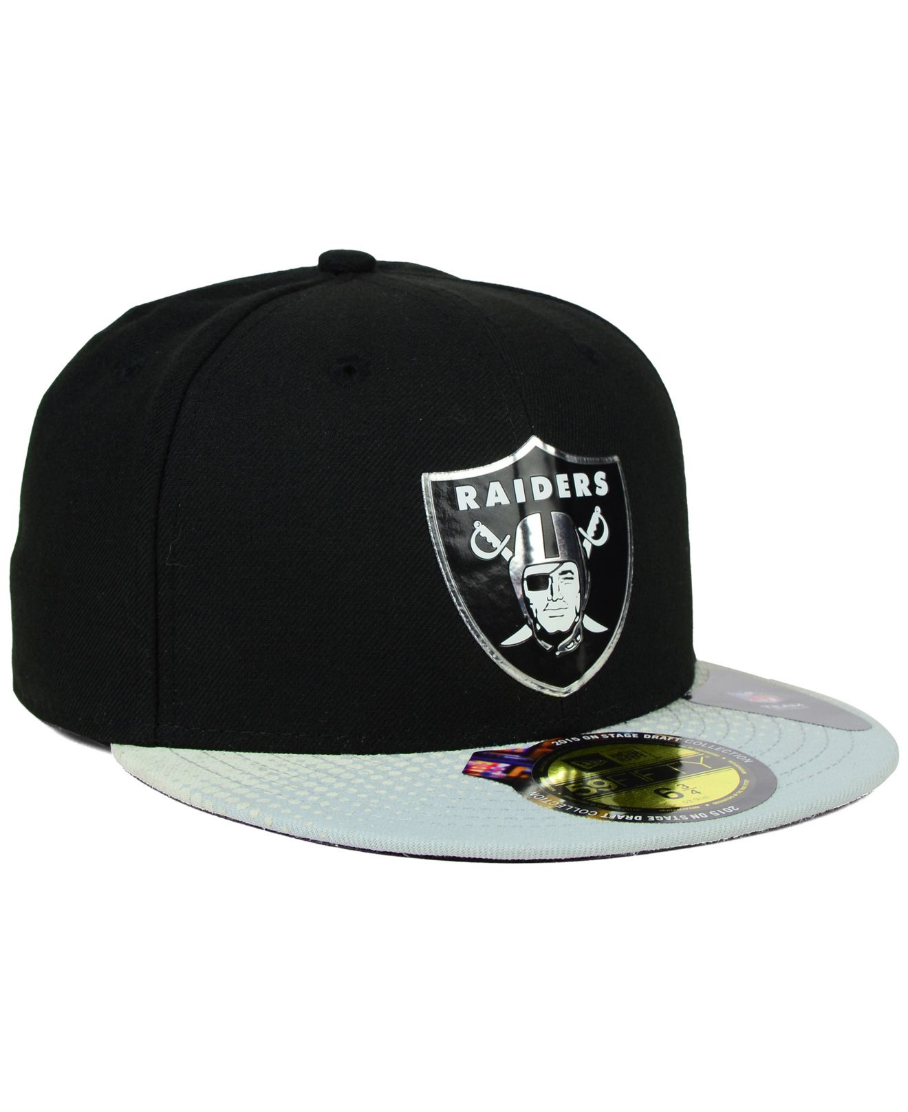 new arrival 443e1 73647 KTZ Kids  Oakland Raiders Draft On-stage 59fifty Cap in Black for ...