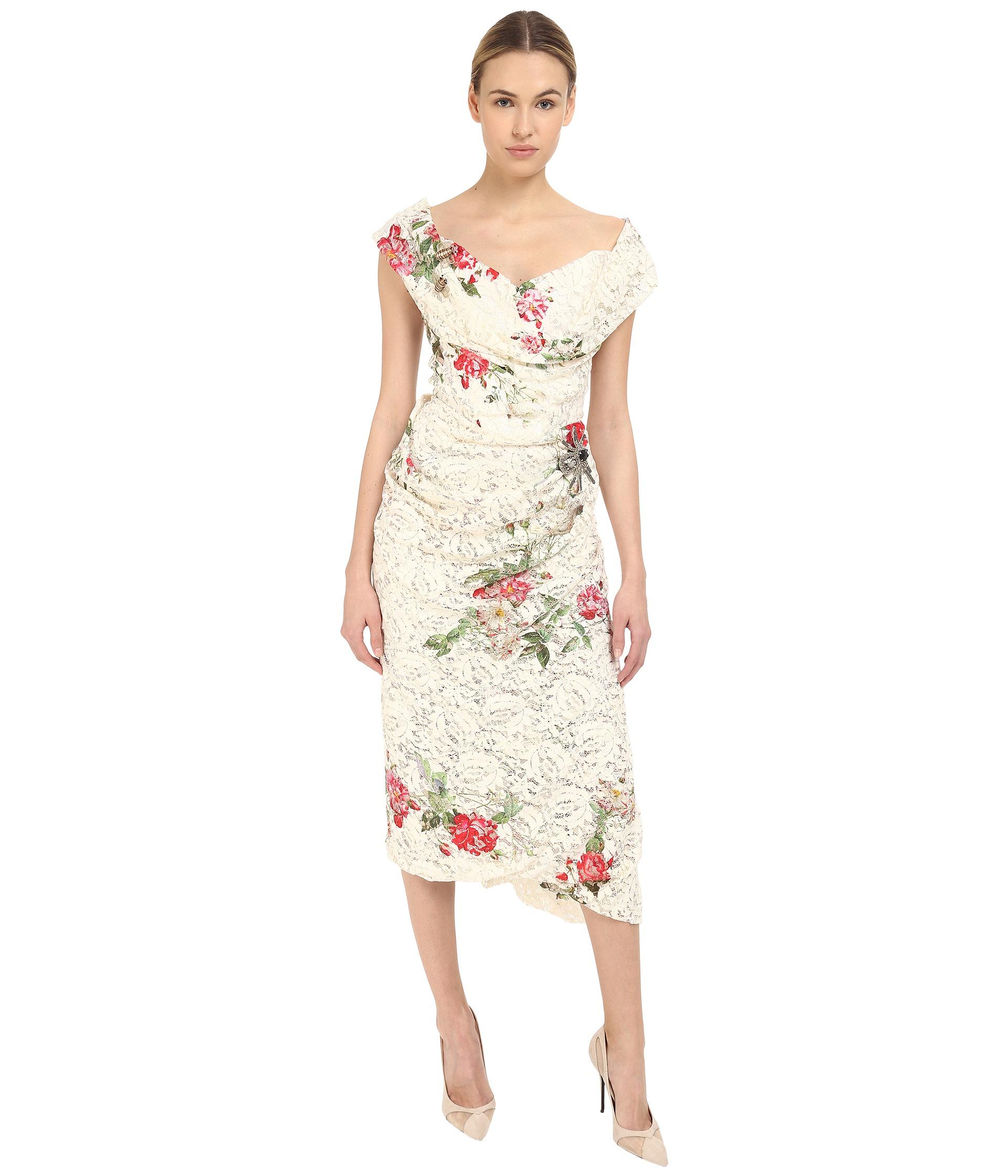 Lyst vivienne westwood lotus flower lace cocotte red carpet dress gallery mightylinksfo