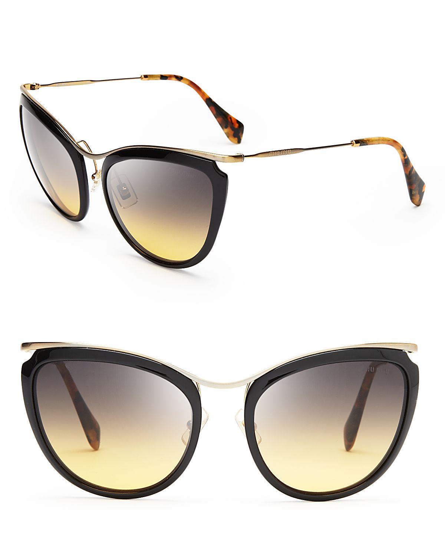 Miu Miu Gold Sunglasses