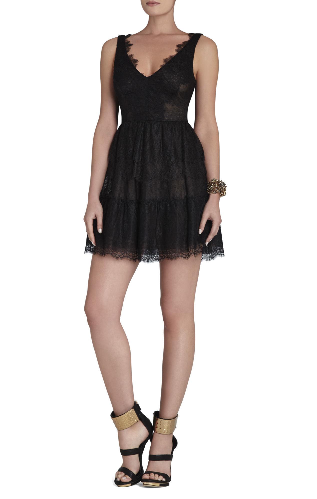 Bcbgmaxazria Willa Lace Dress in Black | Lyst