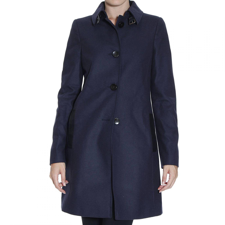 Lyst - Armani Jeans Coat in Blue