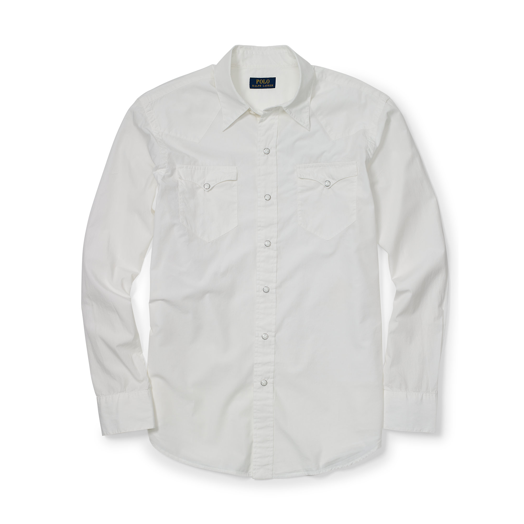 Polo Ralph Lauren Cotton Silk Western Shirt In White For