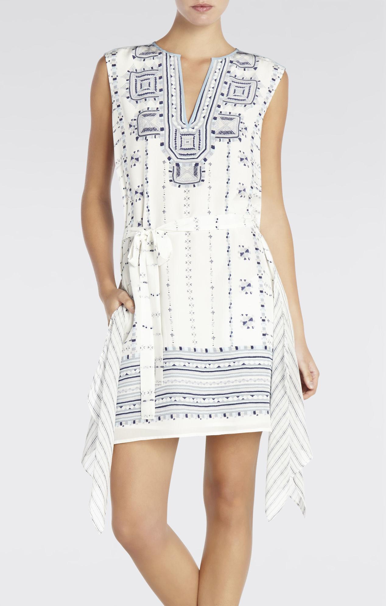 43259b33a4 Lyst - Bcbgmaxazria Runway Agnes Dress in White