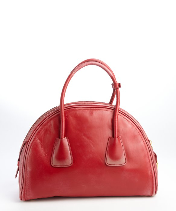 prada galleria bag red