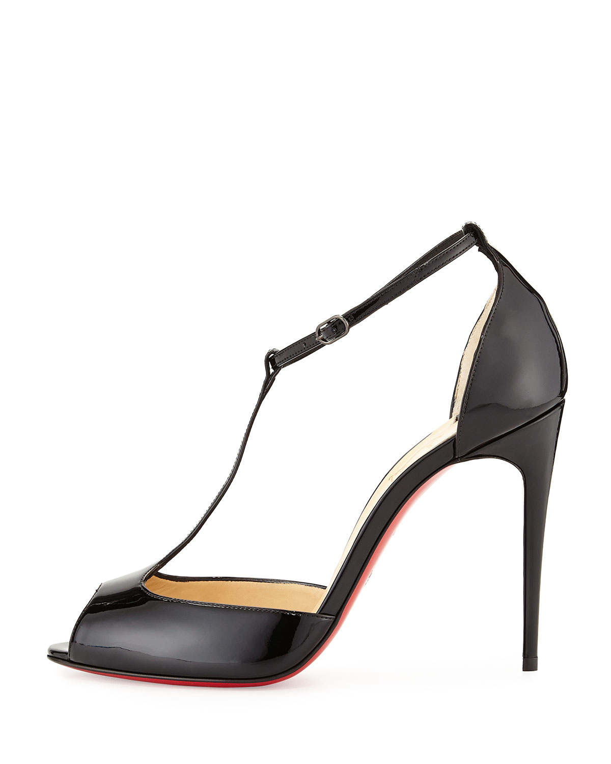 6bbaa2f78b07 blue christian louboutin shoes - Christian louboutin Senora Patent T-strap Red  Sole Sandal in