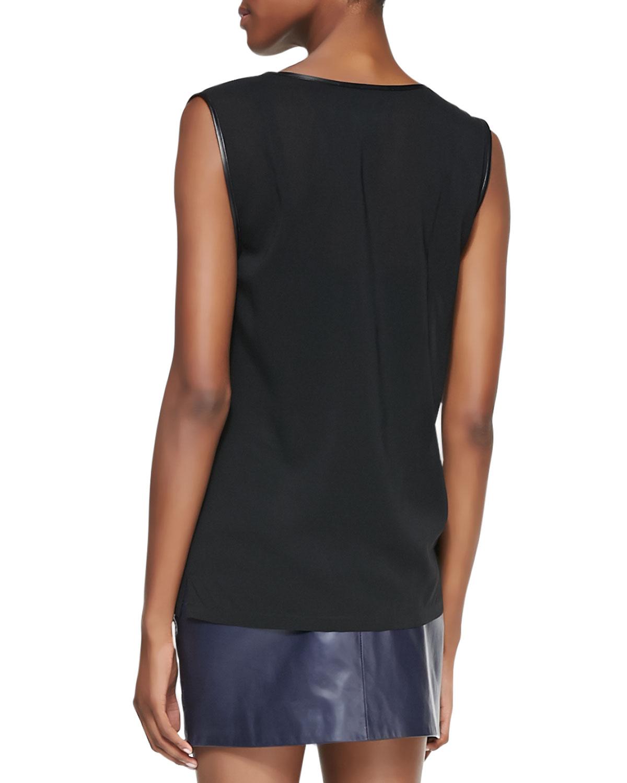 Черная шелковая блузка