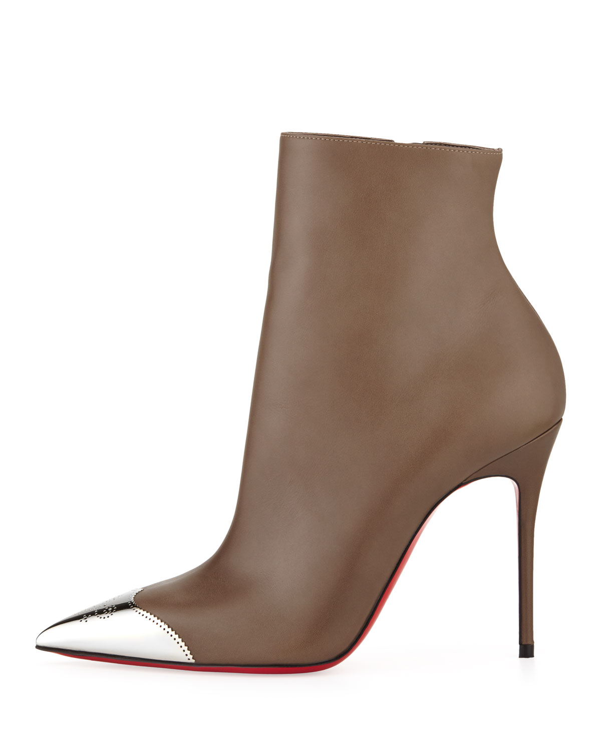 replica louboutin shoes for sale - Christian louboutin Calamijane Red Sole Ankle Boot with Metallic ...