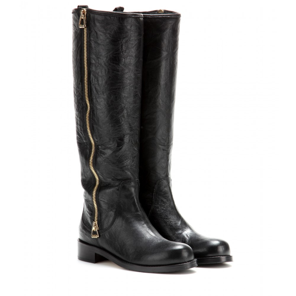 Lyst - Jimmy choo Doreen Leather Boots in Black