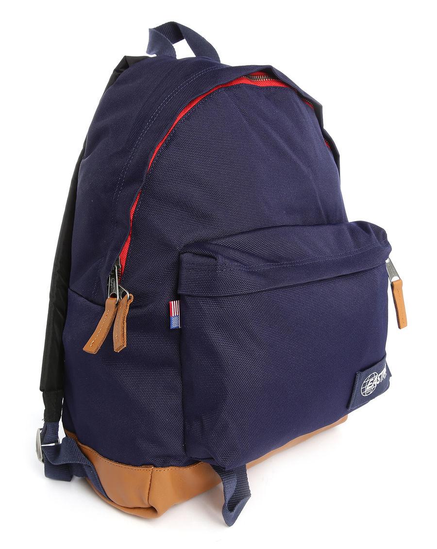 eastpak navy padded pak 39 r pr backpack 24 l in blue for men lyst. Black Bedroom Furniture Sets. Home Design Ideas
