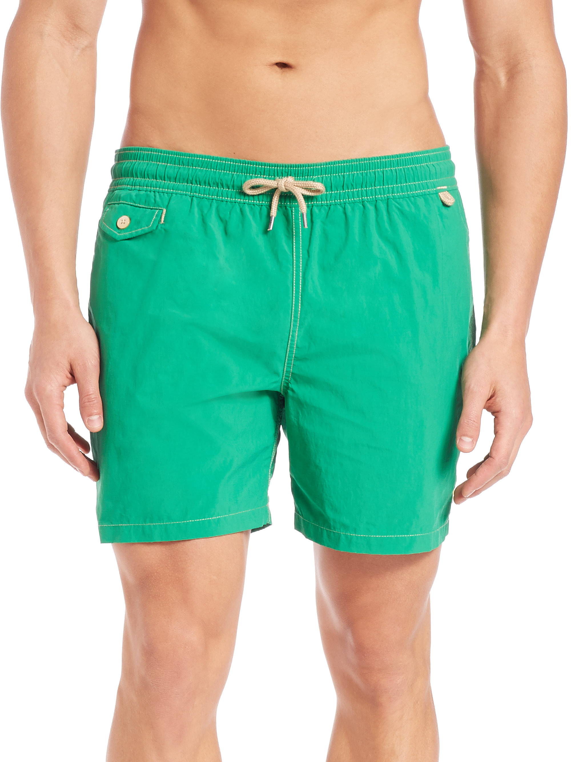 c97b828649 ... best price lyst polo ralph lauren traveler swim shorts in green for men  b3377 3f783