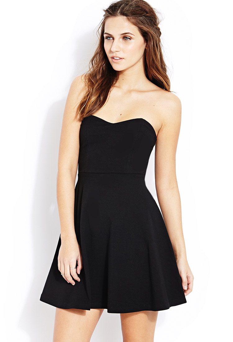 92b8791585 Lyst - Forever 21 Sweet Thing Tube Dress in Black