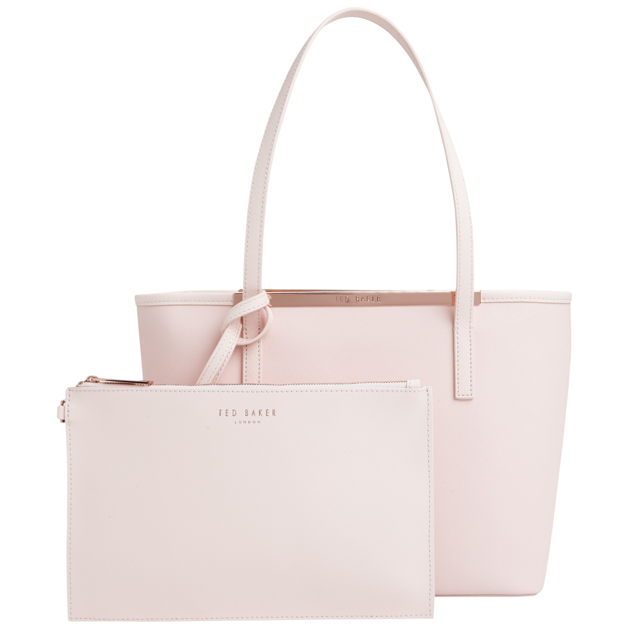 b1104ffd7bda44 Ted Baker Colour Block Metallic Small Shopper Bag in Natural - Lyst