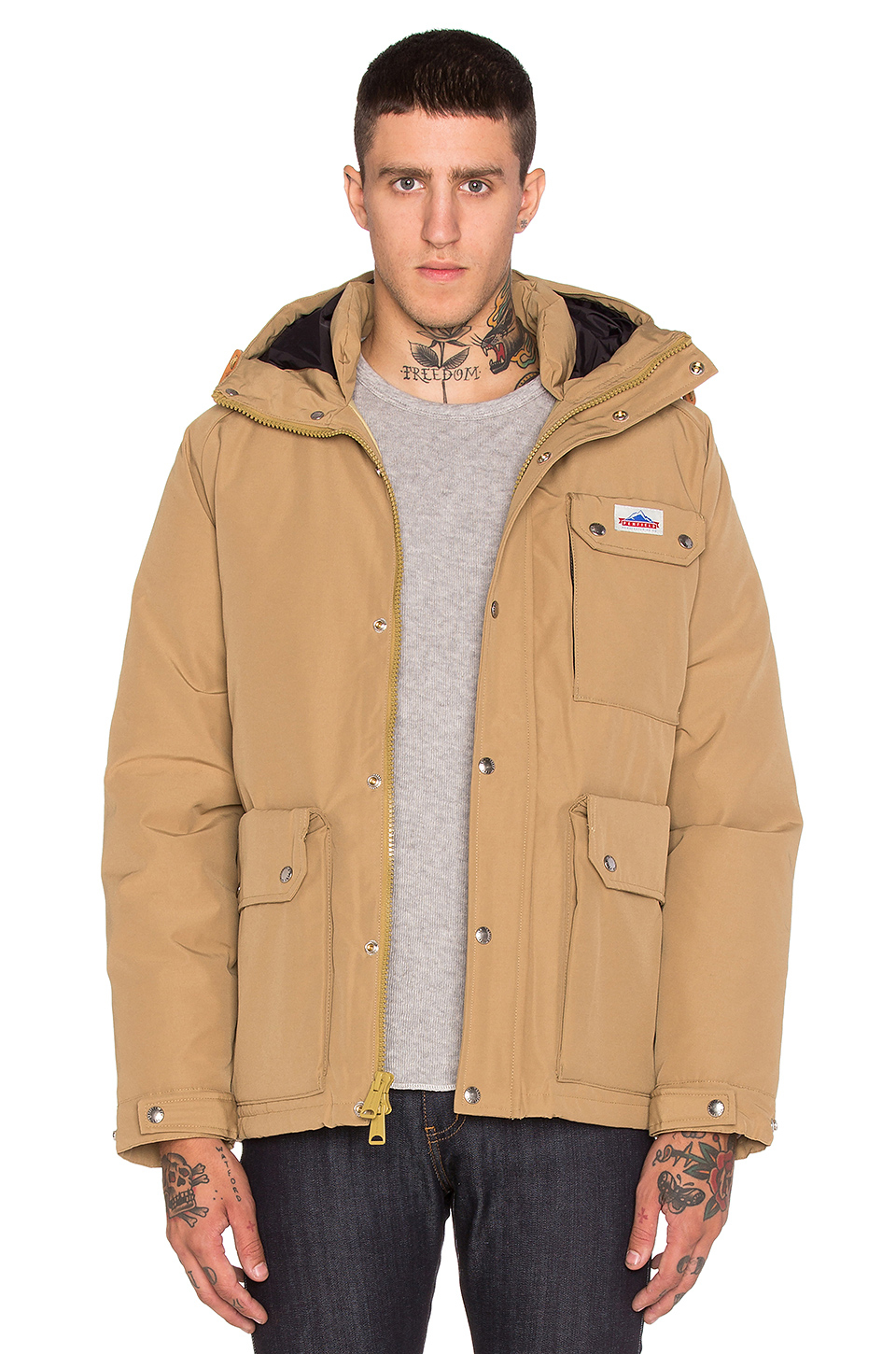 Penfield Apex Down Insulated Parka Jacket in Brown for Men | Lyst