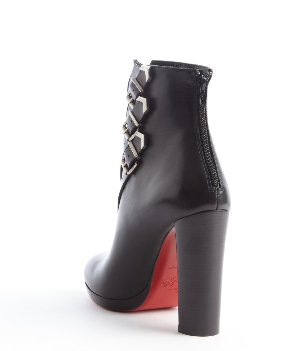 laboutin replica - christian louboutin round-toe boots black leather brogue detail ...