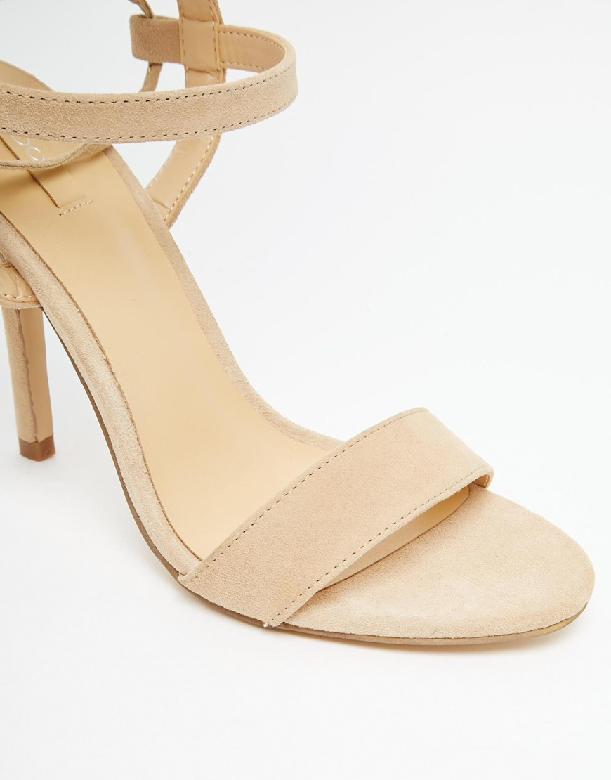 Lyst - ALDO Hastina Nude Tie Up Heeled Sandals in Natural