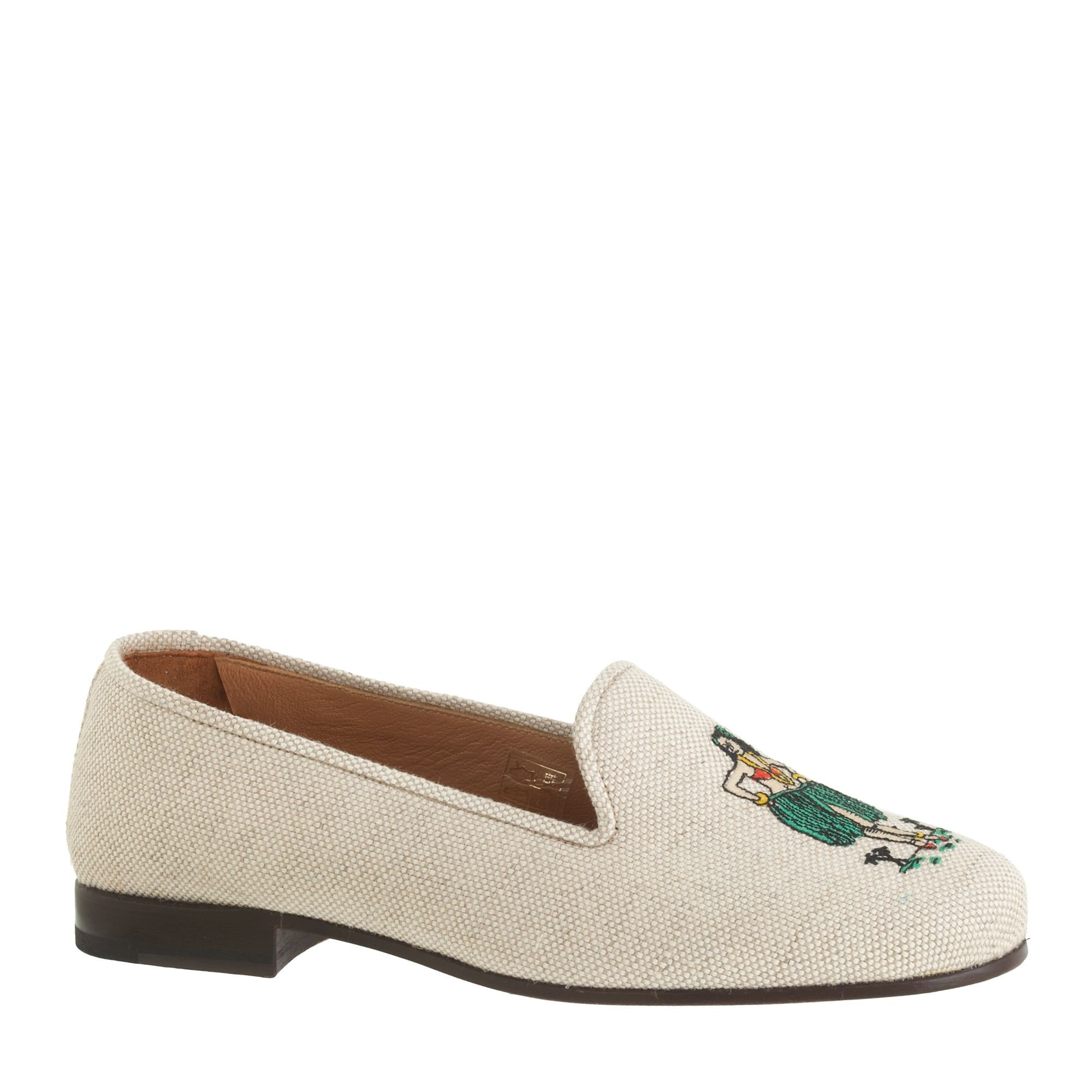 Stubbs wootton for classic linen slippers in white for J crew bedroom slippers
