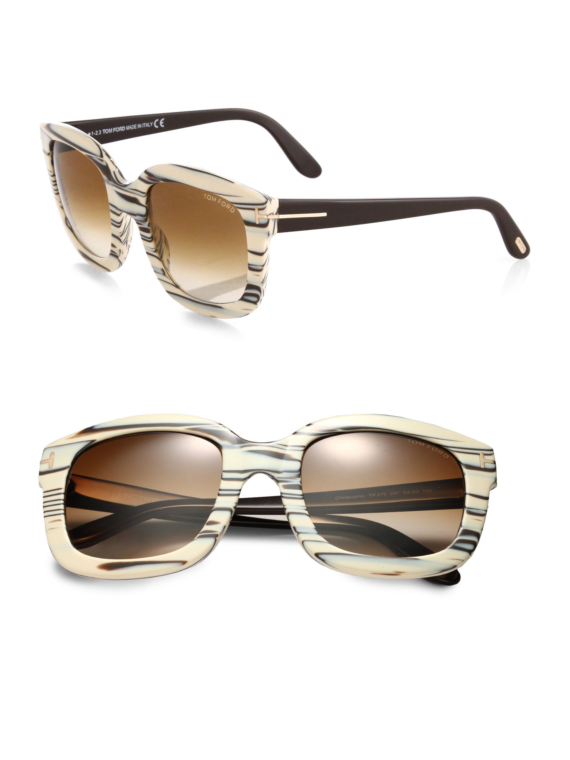 lyst tom ford christophe oversized square sunglasses in. Black Bedroom Furniture Sets. Home Design Ideas