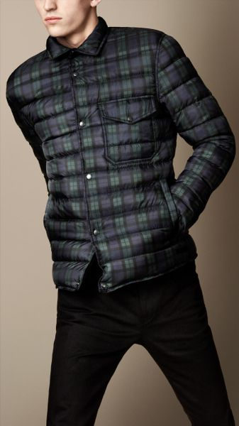 Burberry Military Quilt Jacket In Blue For Men True Navy