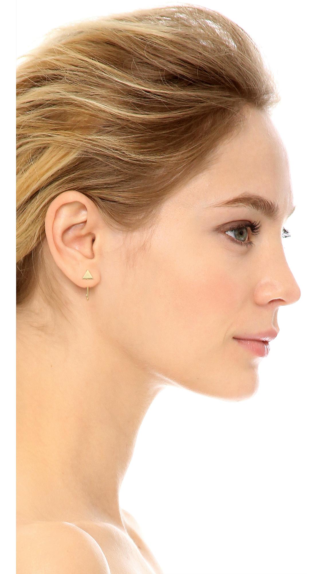 f5ec02745 Madewell Bar Hook Stud Earrings in Metallic - Lyst
