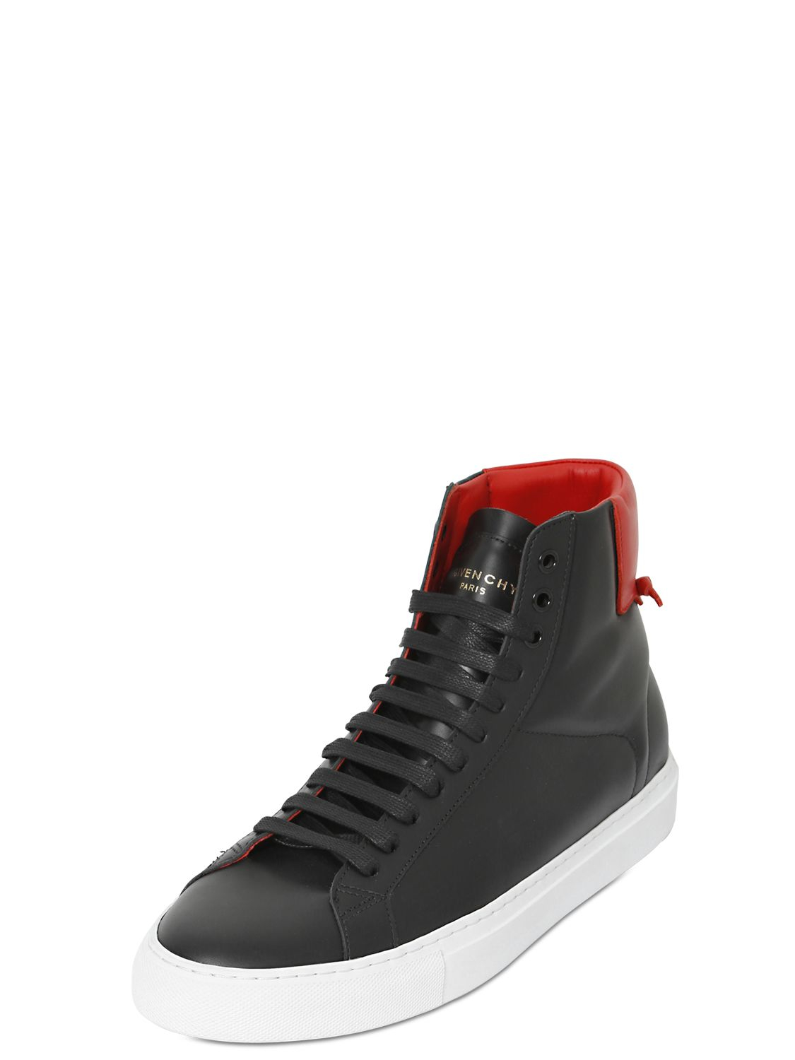 Givenchy Knots Leather High Top Sneakers In Black For Men