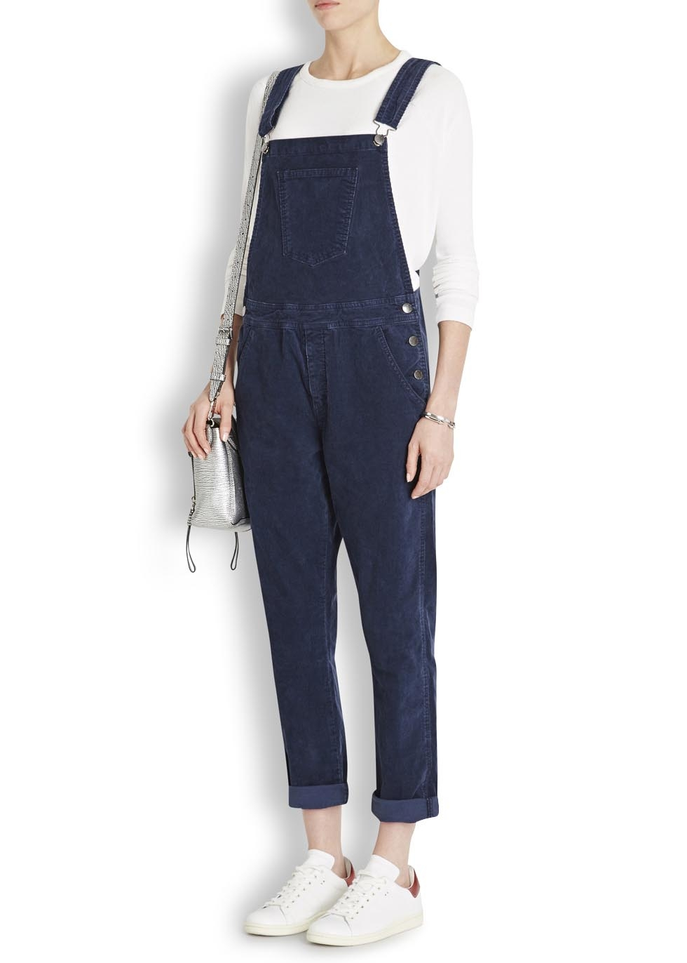 Current Elliott Shirley Navy Corduroy Dungarees In Blue Lyst
