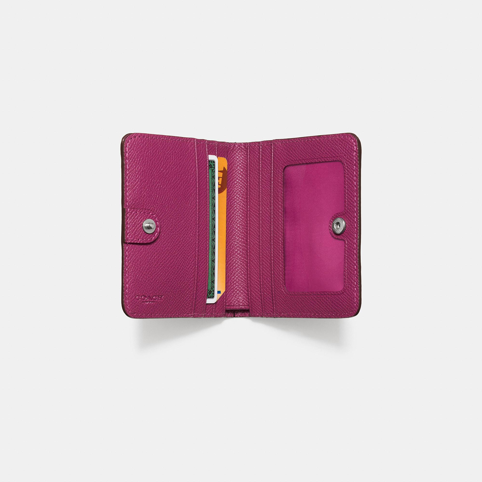 e5d3ed999fee Lyst - COACH Small Wallet In Edgestain Leather in Purple