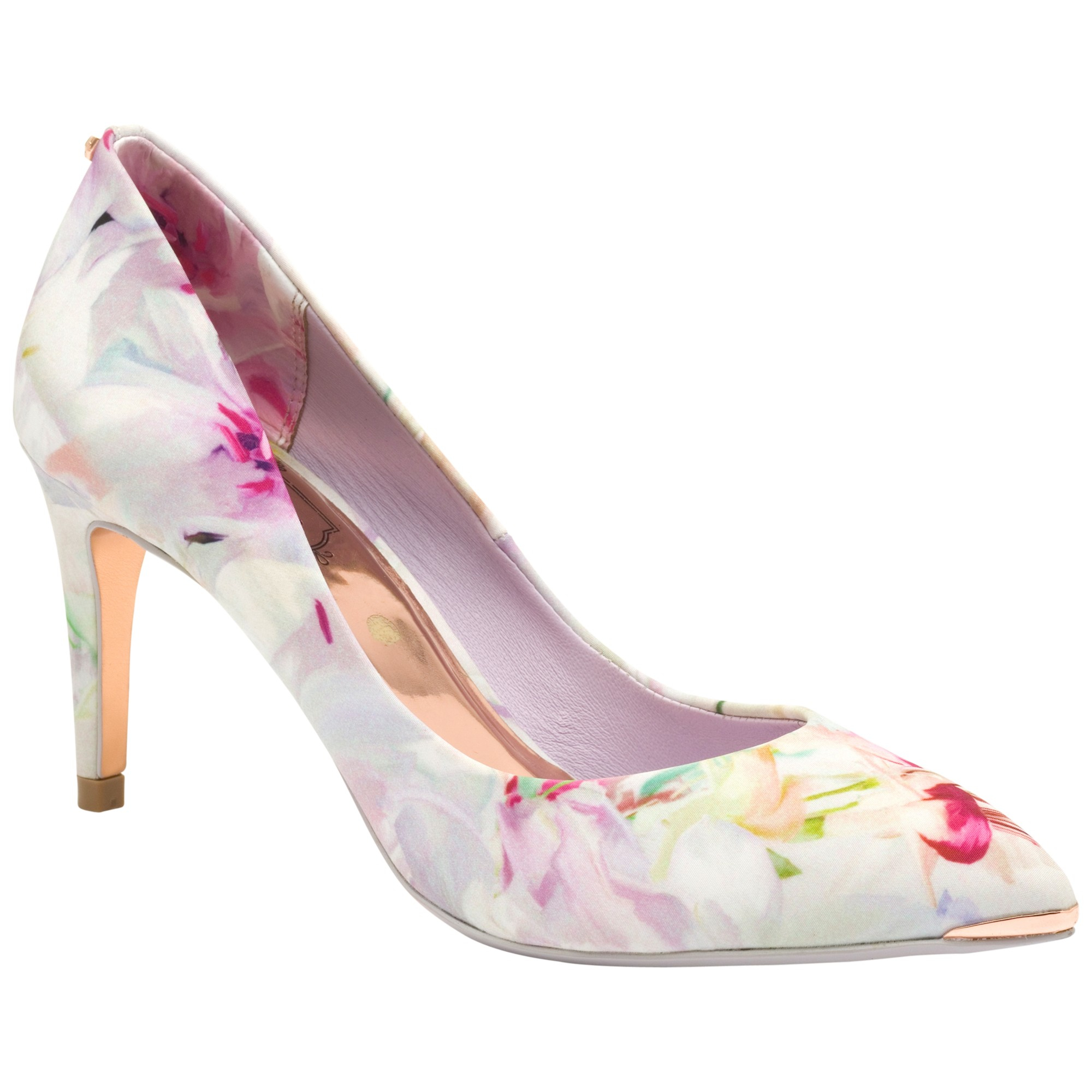 Ted Baker Charmesa Floral Print Pointed Court Shoes In