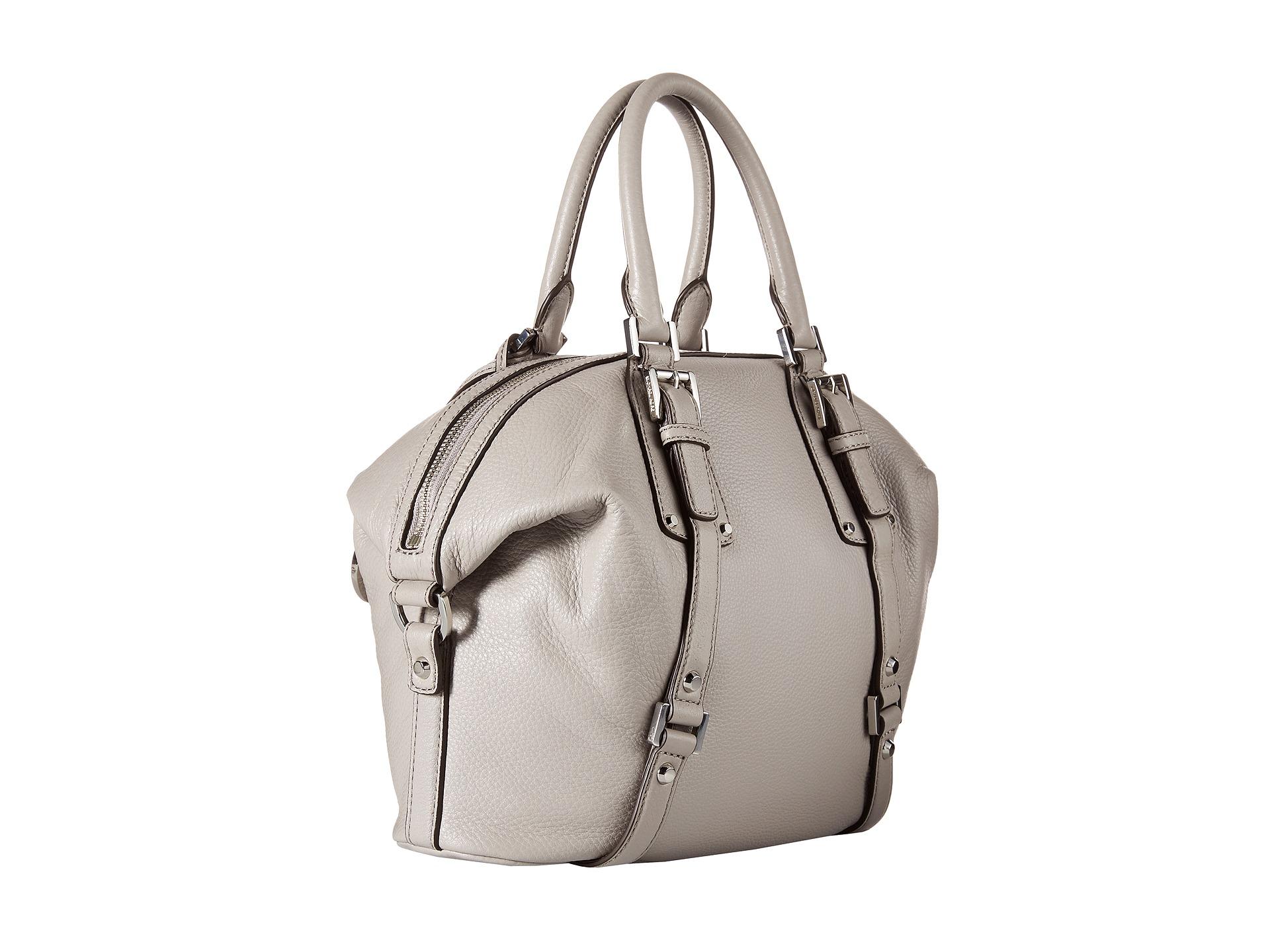e93885f756e9 ... order lyst michael michael kors bedford belted medium satchel in gray  47da3 028fd
