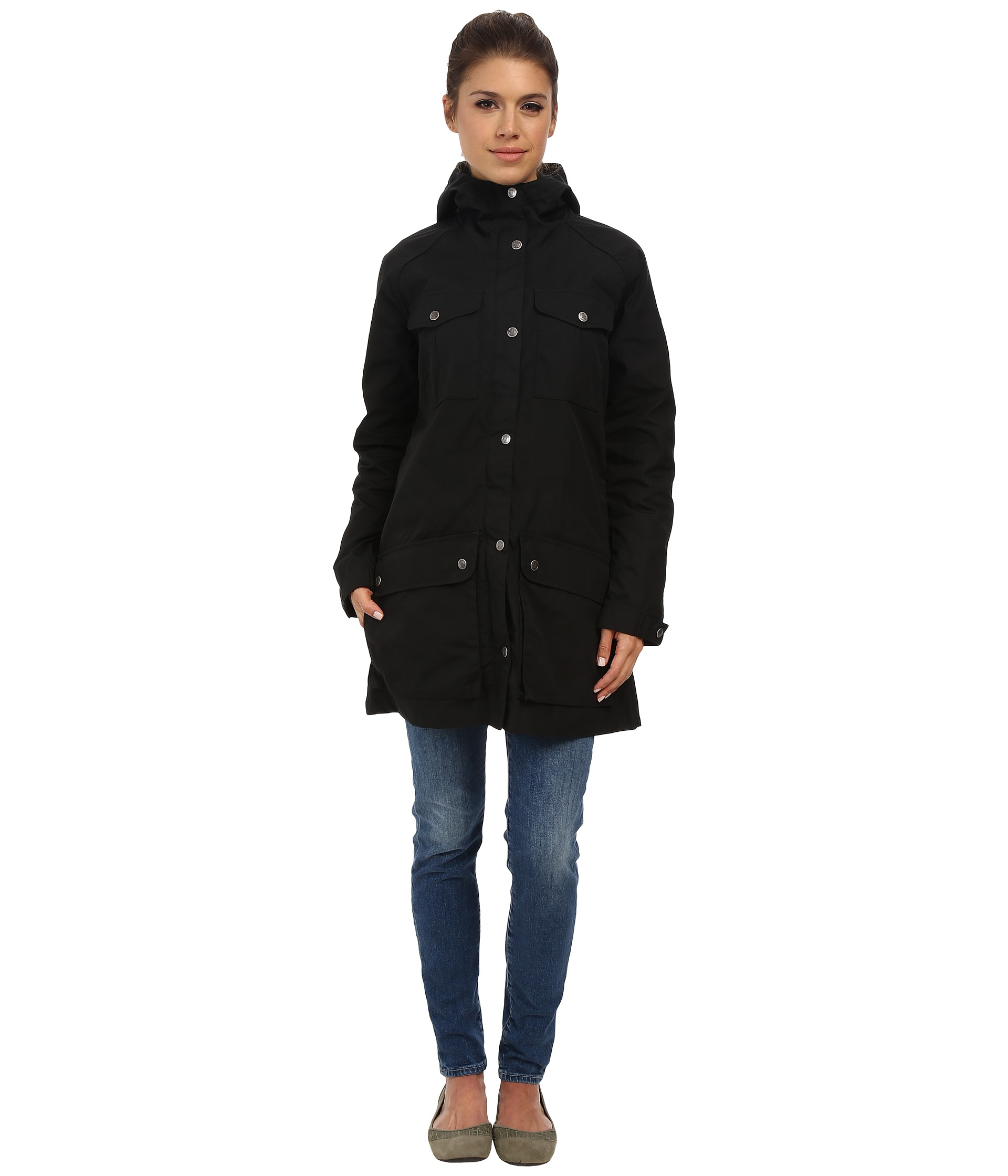Fjallraven Greenland Parka Light in Black | Lyst