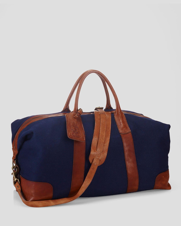 da552e2c95bd Lyst - Ralph Lauren Polo Canvas Duffel Bag in Blue for Men