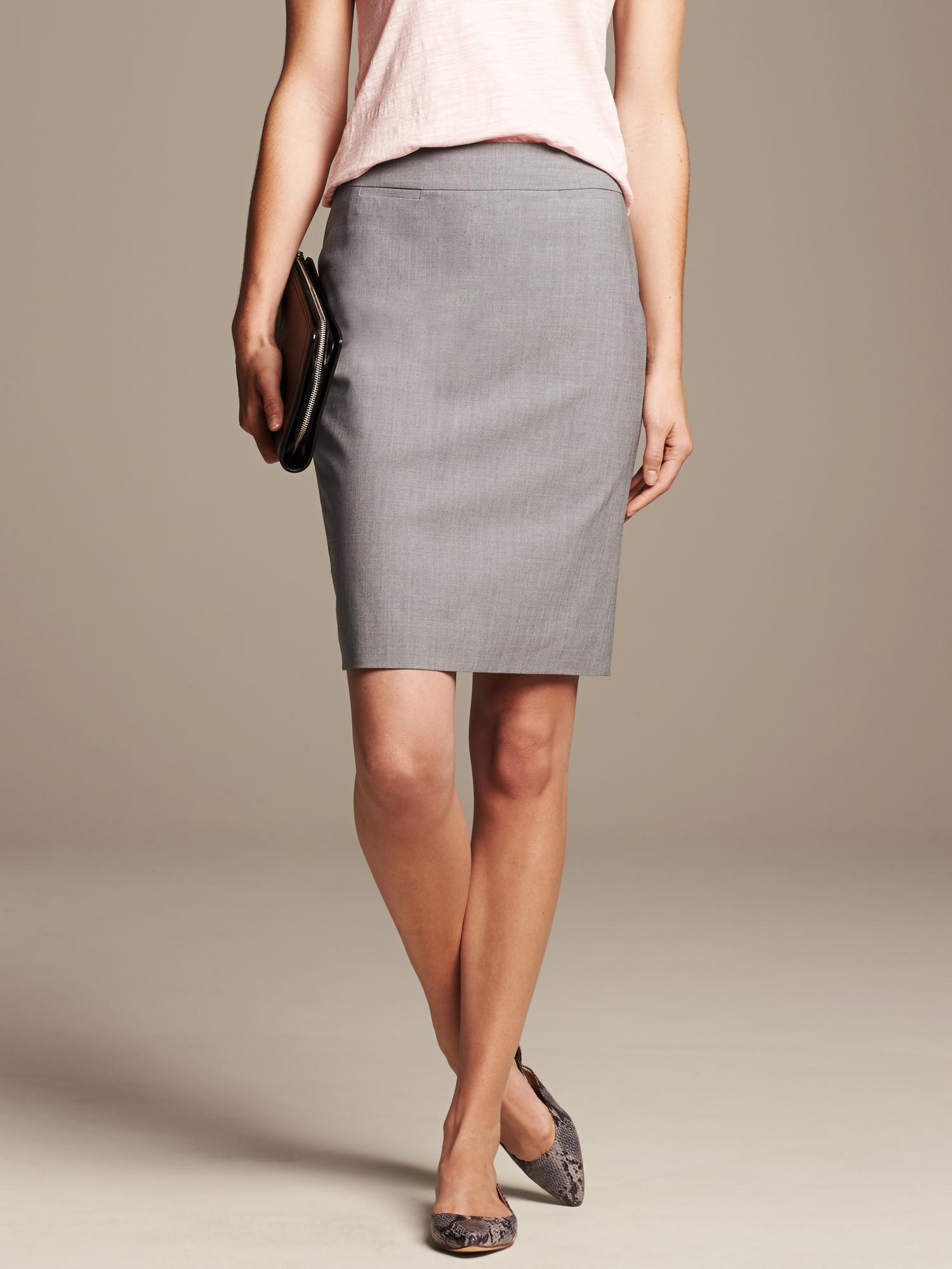 Light Gray Pencil Skirt - Dress Ala