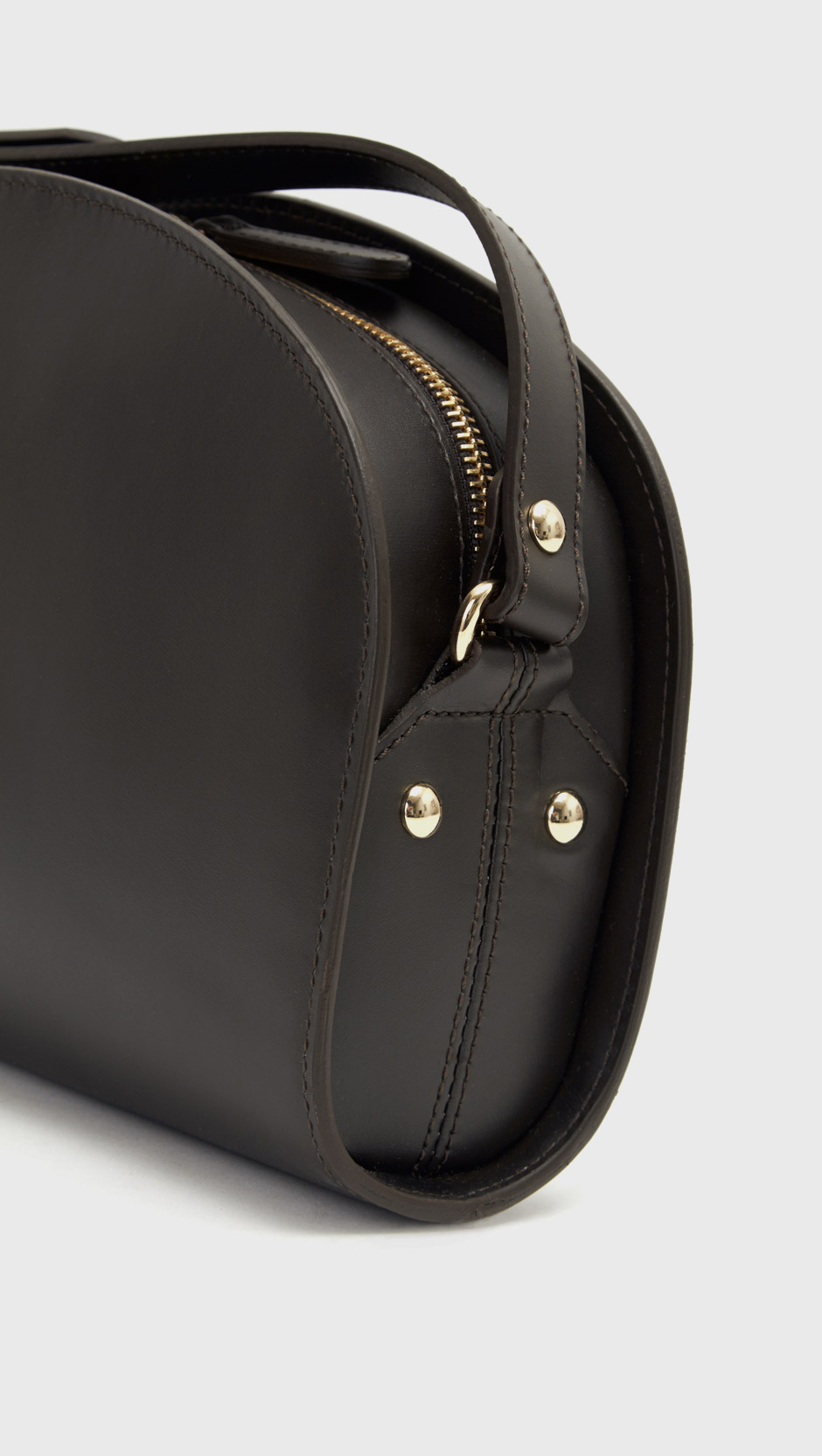 a p c half moon bag in gray lyst. Black Bedroom Furniture Sets. Home Design Ideas