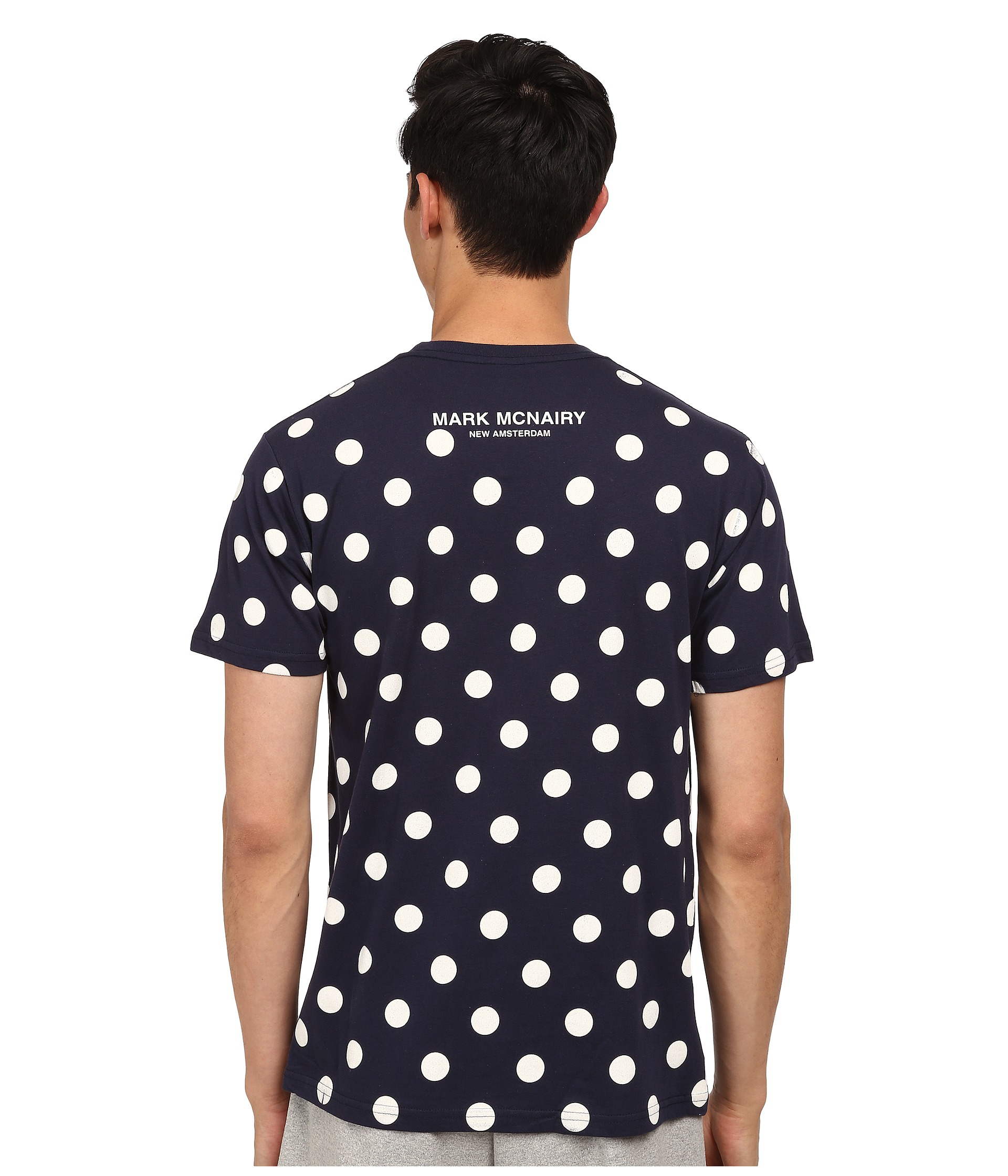 Mark Mcnairy New Amsterdam Polka Dot T Shirt In Blue For