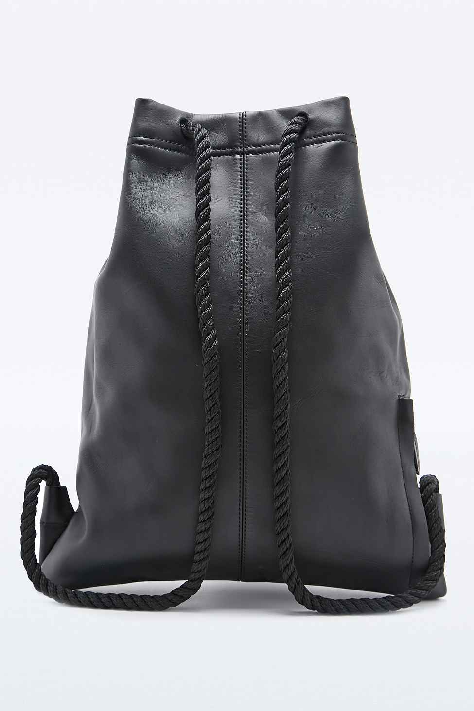 46e739745e Stighlorgan Driscoll Leather Drawstring Bag In Black in Black for ...